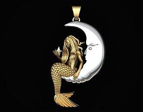 mermaid pendant No 02 3D printable model
