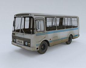 3D model PAZ Bus - Low Poly