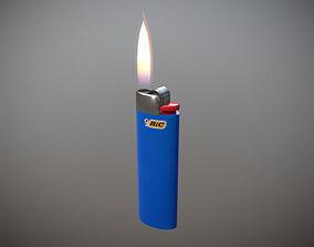 Bic Lighter 3D model game-ready