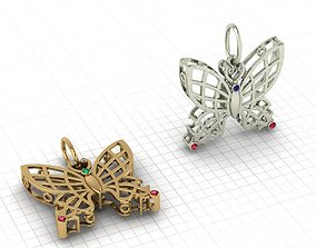 Butterfly pendant 3D print model bug
