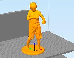 3D printable model boy boxing