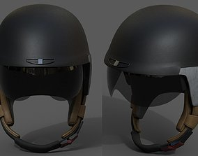 Helmet sport Color 3d model Generic military game-ready 1