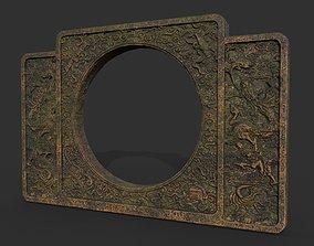 3D asset Low poly Ancient Dragon Temple Element 10 -