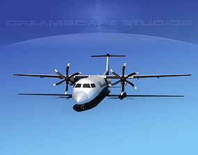 3D model Dehaviland DHC-8 400 Devonair