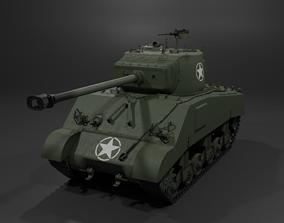 M4A2 76 W Sherman Medium Tank 3D model