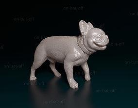 walk French bulldog 3D print model