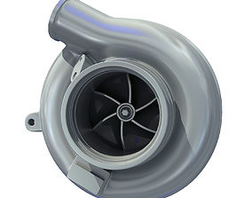 3D model White Turbo Turbocharger 1