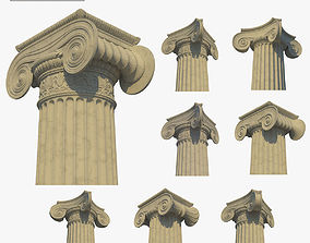 capital 3D Ionic column collection