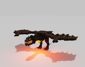 3D asset Voxel Dragon