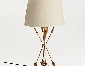 3D model Antique Brass Arrow Accent Lamp