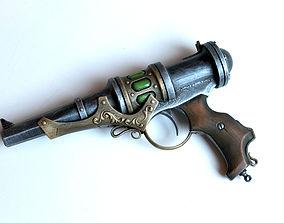 3D printable model steampunk energy gun prop