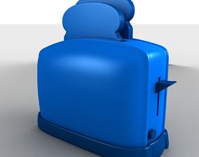 3D model Cartoon Toaster