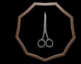 3D model Low poly logo scissors 1