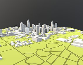 Downtown Charlotte North Carolina 3D model