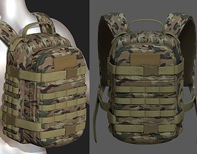 3D asset Backpack military combat soldier armor