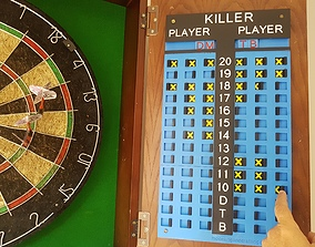 3D print model Darts Killer Scoreboard