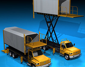 3D Airport loading vehicle