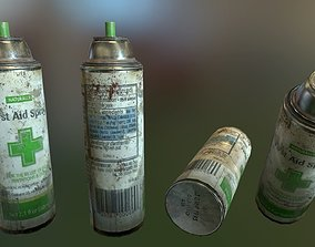 3D asset PBR First Aid Spray
