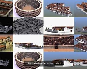 Roman Building Set 01 3D model