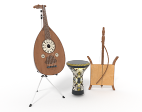 Arabic musical instruments 3D