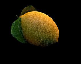 3D model low-poly Lemon