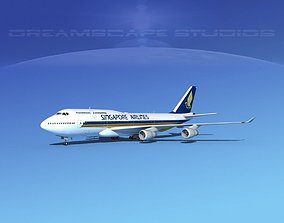 3D model Boeing 747-400 Singapore Airlines