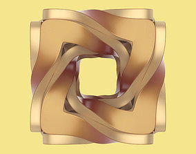twisted cube 3D model