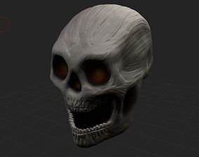 Human Skull Illustration 3D print model
