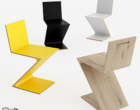 3D Zig Zag chair by Cassina