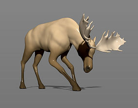3D printable model Young moose