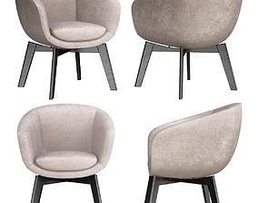 RUSSELL Easy chair Russell Collection By Minotti 3D