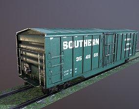 Train Box Car Low-poly 3D model VR / AR ready