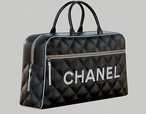 3D CHANEL Vintage Logo Bowler Bag Quilted Lambskin Black