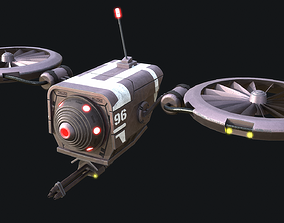 3D model game-ready BattleDrone
