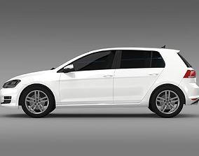 3D VW Golf TDI 4MOTION 5d Typ 5G 2013