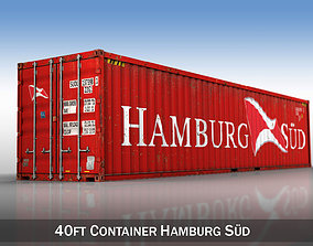 3D container 40ft Shipping Container - Hamburg Sued