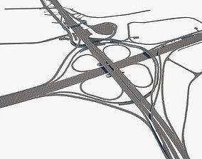 3D model Highway Road Junction barrier