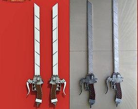 Anime sword Attack on Titan 3D print model
