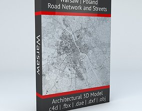 3D model topological Warsaw Road Network and Streets
