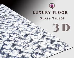 Luxury Floor - Glass Tile 01 3D model