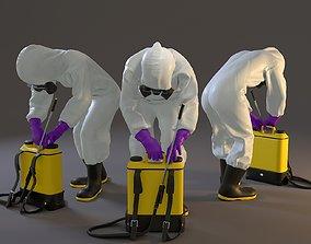 3D model Biohazard Suit Female ACC 2130 007