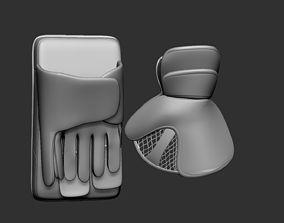 Ice Hockey Goalie Gloves 02 Collectible Figure 3D Print