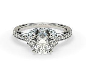 shining Fancy Engagement Ring 3D print model
