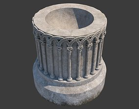 Church Furniture - Stone Baptismal Font 01 Ancaster 3D