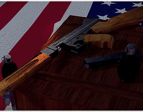 Thompson M1A1 3D Model VR / AR ready