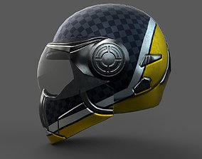 Helmet scifi military combat racer Generic game-ready 3