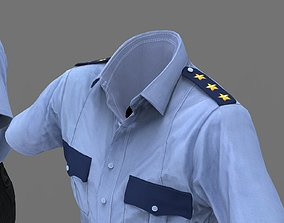 3D model security gard outfit