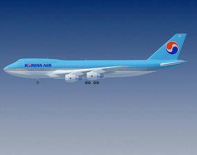 Korean Air Boeing 747 3D