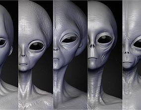 Realistic Aliens Sculpts Bundle 1 3D
