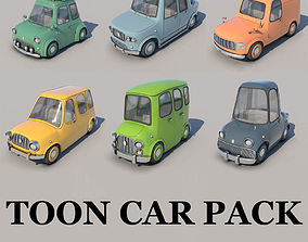 3D model Toon Cars Pack - 6 Pieces